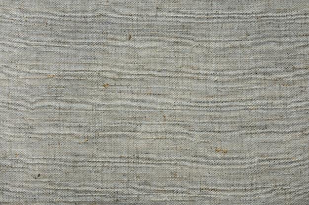 Texture de toile de lin brut, fond, tissé, papier peint, gris clair et beige