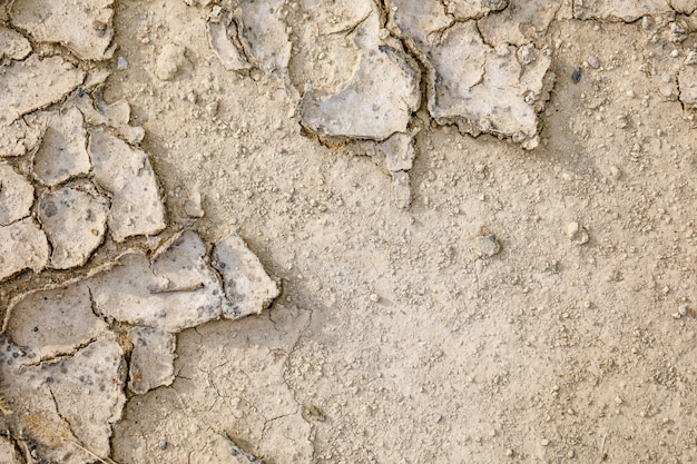 Texture de toit en terre sèche et fissurée