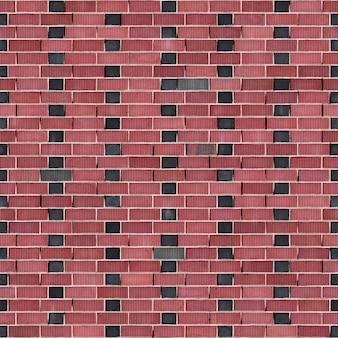 Texture transparente carré de brique rouge bond