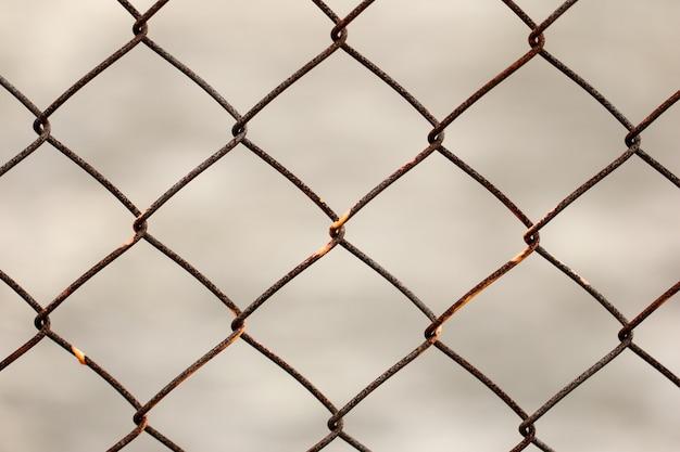 Texture transparente clôture rouillée