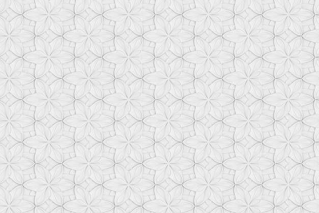 Texture transparente de l'illustration 3d de volume de fleur hexagonale blanche
