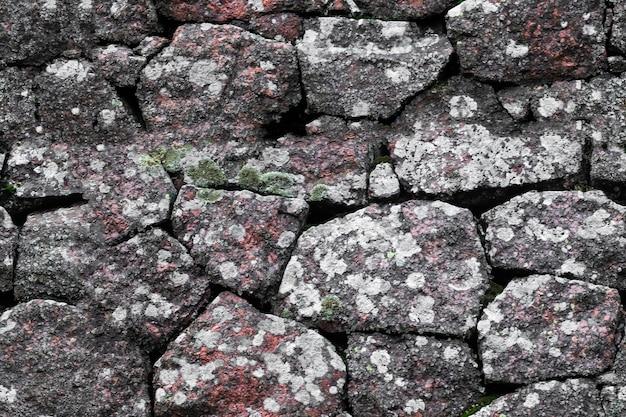 Texture transparente. mur de pierre fait de blocs de granit.