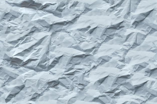 Texture transparente de papier blanc froissé