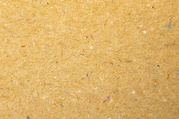 Texture très détaillée du papier kraft, photo en gros plan de fond de surface de papier matériel