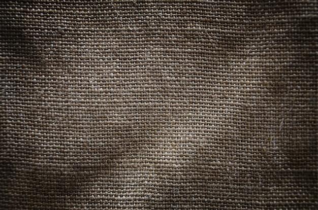 La texture d'un très vieux tissu de sac brun