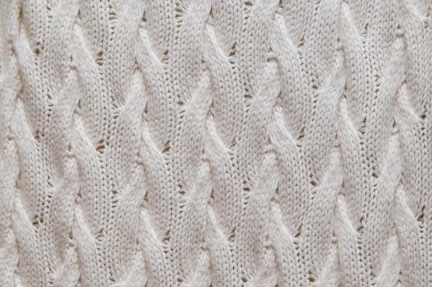 Texture de tricot blanc