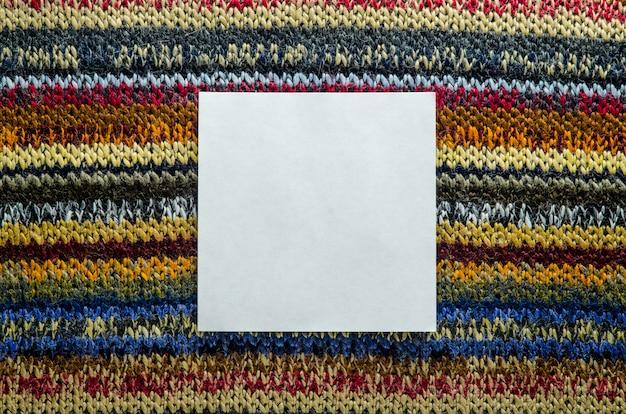 Texture tricotée avec espace blanc