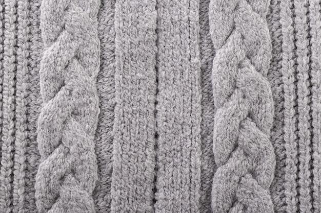 Texture tricotée grise