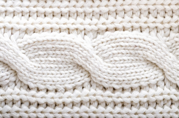 Texture tricotée. tissu à motifs en laine. fond, espace de copie