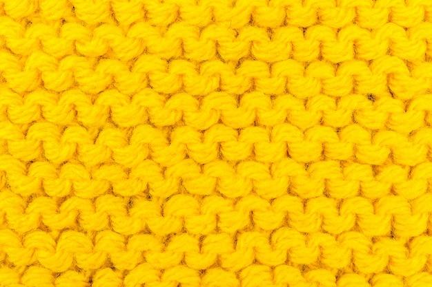 Texture à tricoter pour la couleur jaune