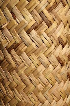 Texture végétale de vannerie mexicaine