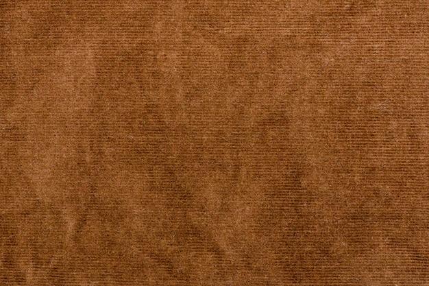 Texture velours marron. fermer