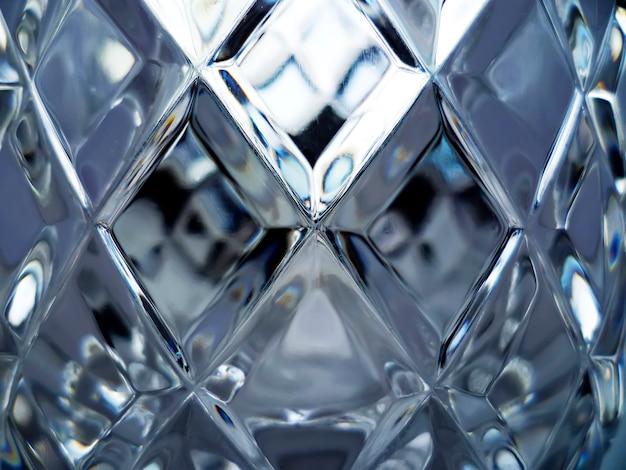 Texture de verre sous forme géométrique