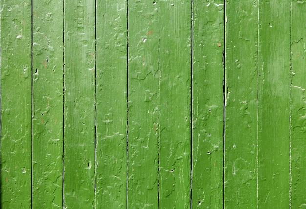Texture verte du bois peint