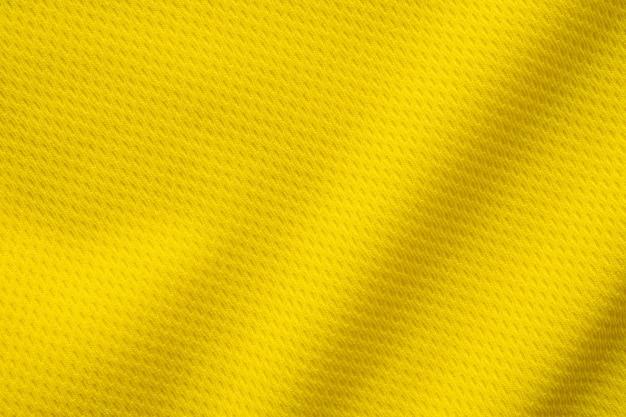 Texture de vêtements de sport jaune