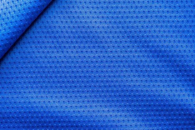 Texture de vêtements de sport en tissu de couleur bleue