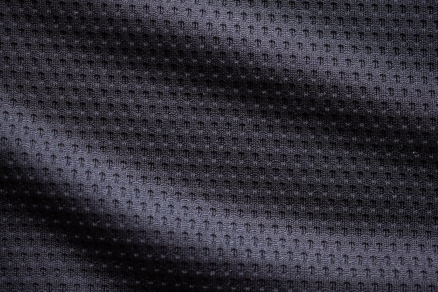 Texture de vêtements de sport en tissu noir