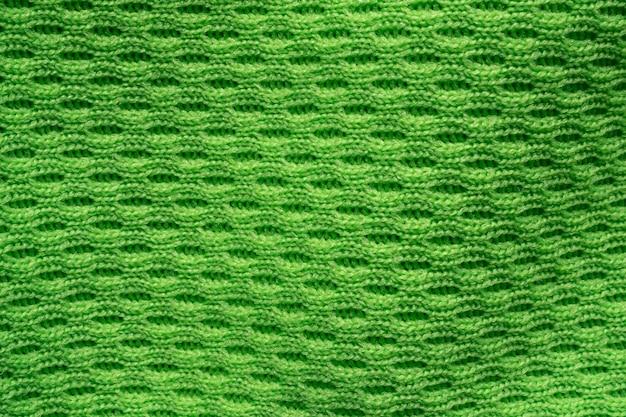 Texture de vêtements de sport vert