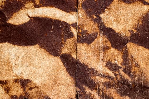 La texture de la vieille plaque de métal rouillé.