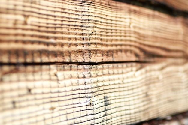 Texture d'une vieille poutre en bois de bouleau