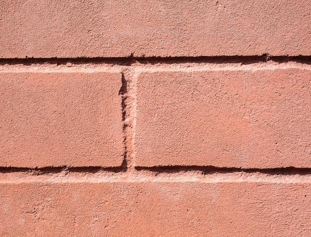 Texture de vieux fond de mur de brique brun foncé et rouge taché