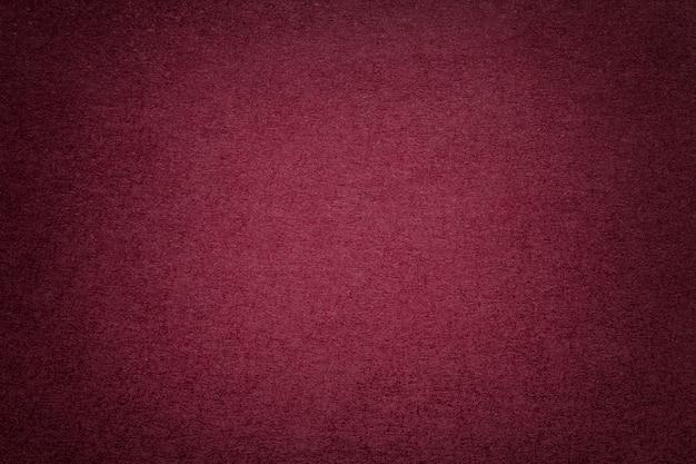 Texture de vieux fond de papier rouge foncé