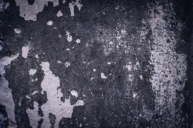 Texture de vieux mur de béton gris grungy pour le fond, espace de copie.