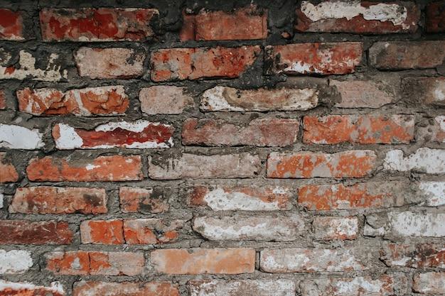 La texture d'un vieux mur de briques