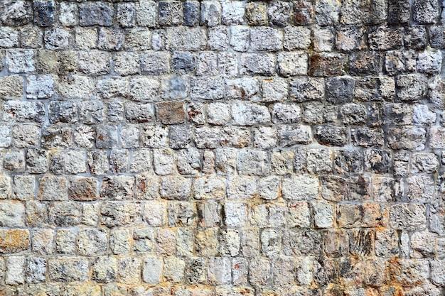 Texture de vieux mur en pierre fortifié, fond d'architecture