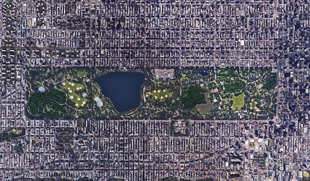 Texture vue satellite