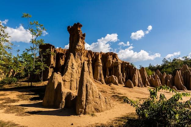 Textures de sol de sao din nanoy, province de nan, thaïlande