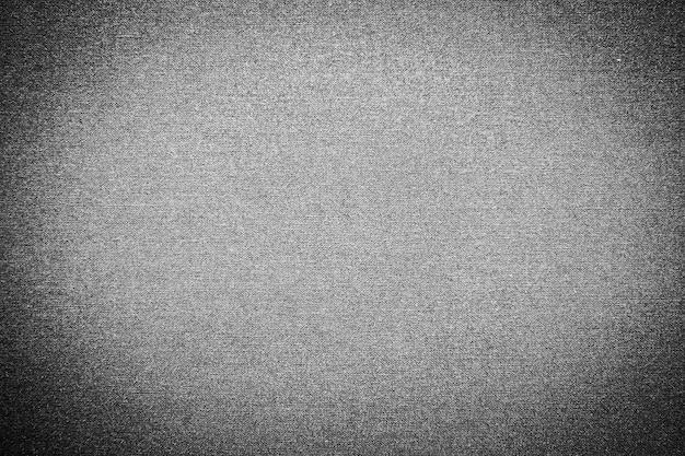 Textures et surface en coton noir