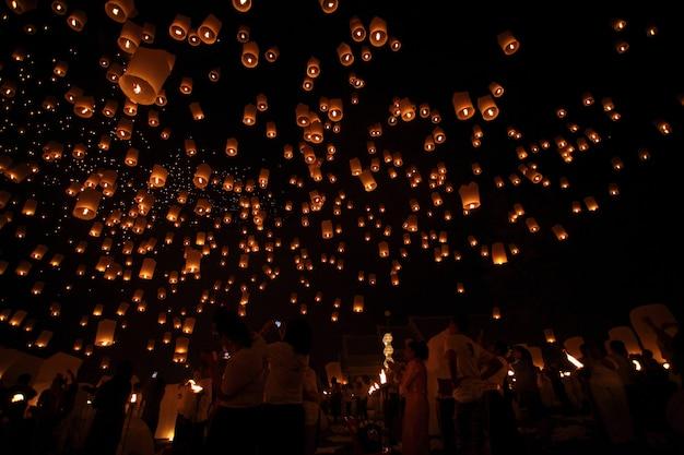 Thaïlandais flottant lanterne.
