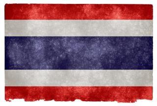 Thaïlande flag grunge asie