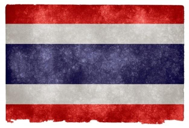 Thaïlande grunge flag
