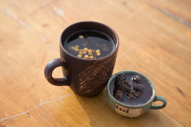 Thé à l'argousier en hiver