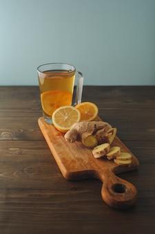 Thé au citron et au gingembre