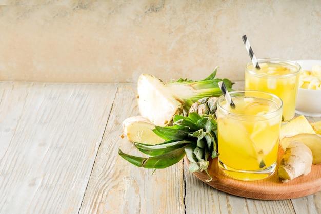 Thé au gingembre et ananas