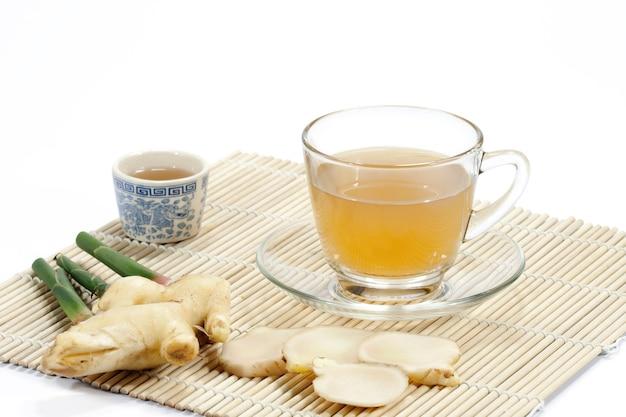 Thé au gingembre aux herbes saines