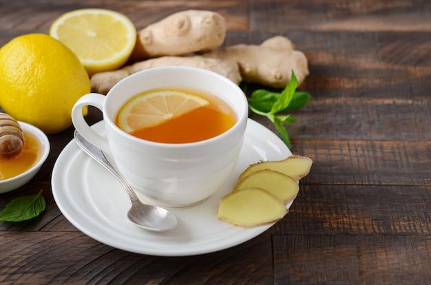 Thé au gingembre, citron et miel