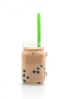 Thé au lait glacé avec bulle