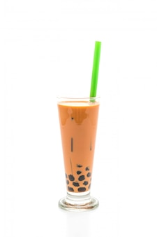 Thé au lait thaïlandais avec bulle
