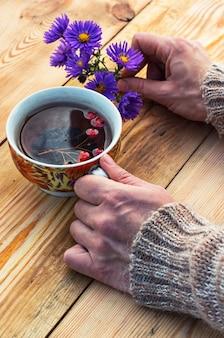 Thé d'automne symbolique