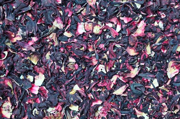 Thé aux fleurs d'hibiscus séchées