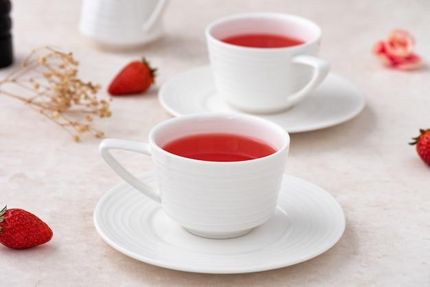 Thé aux fraises