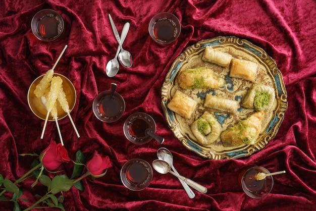 Thé et baklava