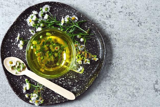 Thé à la camomille fraîche. boisson de désintoxication à base de plantes. keto tea keto diet.