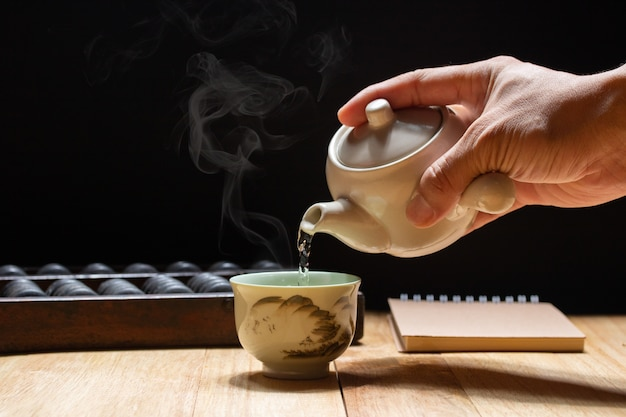 Thé chinois chaud et frais pour la santé