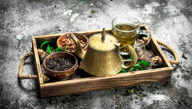 Thé chinois parfumé.