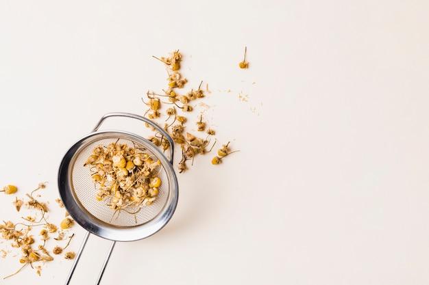 Thé, herbes, passoire
